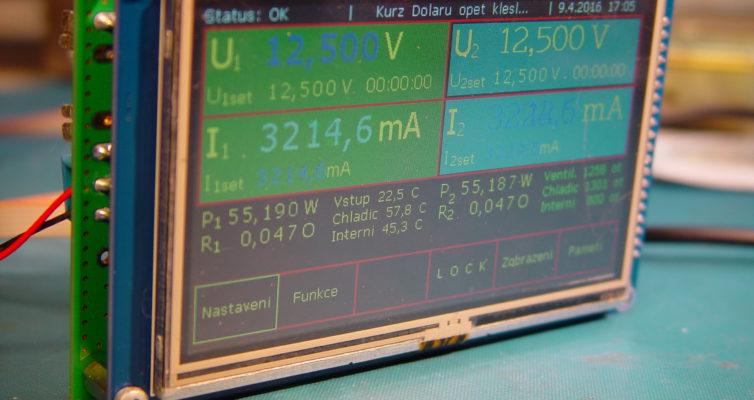 Laboratorní zdroj – 10. návrh řídící desky MCU